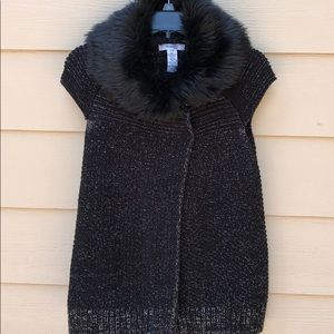 Style&Co Faux Fur Collar Jacket